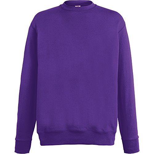 Fruit Of The Loom Mens Lightweight Set In Sweatshirt Purple