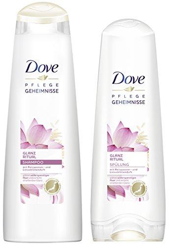 Dove Pflegeset Reiswasser & Lotusblüten mit Shampoo und Spülung