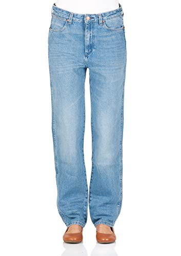 Wrangler Damen Jeans Retro Boyfriend - Blau - B&Y Hot Shot, Größe:W 27 L 30, Farbe:B&Y Hot Shot (W243GX14X) - Wrangler Jeans Damen