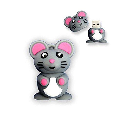niceeshop(TM) 4GB Neuheit Nette Carton Maus USB Flash Drive Speicher Stick, Grau
