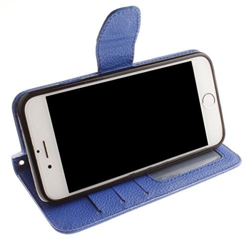 iPhone 6S Plus Coque, iPhone 6 Plus Coque, Lifeturt [ Orange ] [book-style] Flip Case Coque en PU Cuir Housse de Protection Étui à rabat Case Cover Ultra Slim Portefeuille PU Cuir avec stand de Carte  E02-Marine1639