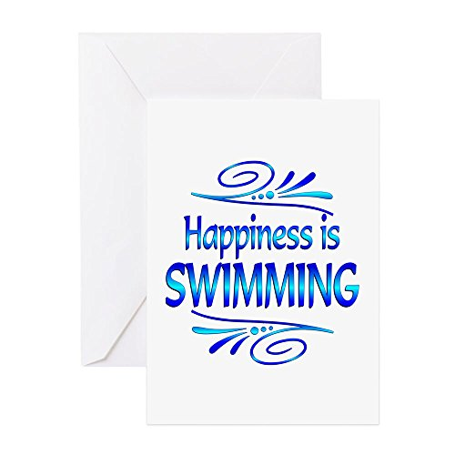 CafePress-Glück ist Schwimmen-Grußkarte, Note Karte, Geburtstagskarte, innen blanko, glänzend