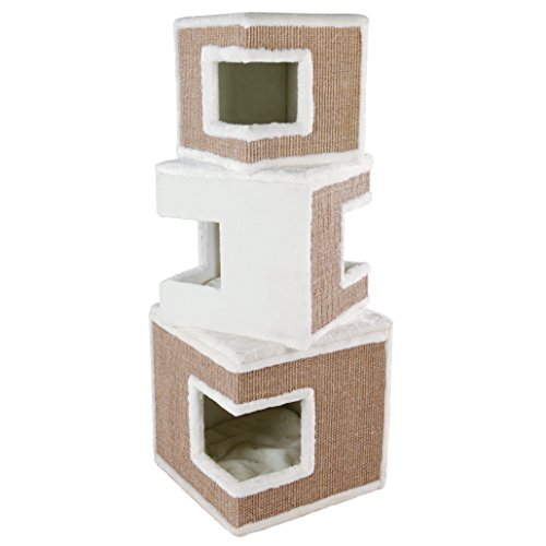Trixie Cat Tower Lilo, 123 cm, weiß/braun