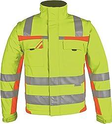 PKA Winter-Warnschutz Softshell- Jacke Farbe gelb/orange Größe XL