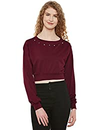 Miss Chase Women's Black and White Boxy Crop Top