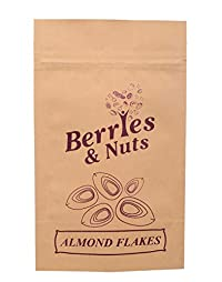 Berries And Nuts California Almond Flakes Without Skin (Badam Cutting Without Skin), 100g