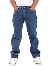 9f76d987 Georgio Peviani Mens True Star Comfort Straight Fit Jeans Black