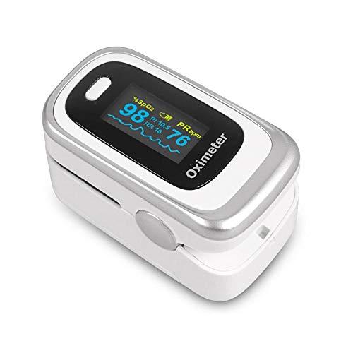 AOLVO Erstklassiges Pulsoximeter, Genaues Sp02-Pulsoximeter Digitales Drahtloses Fingertip-Pulsoximeter-Herzfrequenzmessgerät mit Tragbarem Lanyard für Kinder Erwachsene, FDA-Zulassung