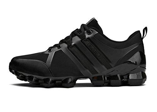 HooH Chaussures Randonnées Homme Décontractée Traînée Coureurs Respirant Conception Antidérapant Jogger Chaussures Noir