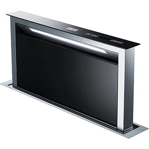 Franke FDW 908 IB XS Dunstabzugshaube / Tischhaube / Glas / 25,0 cm / Dunstabzugstischhaube mit Fernbedienung / LED-Beleuchtung / Edelstahl / schwarz