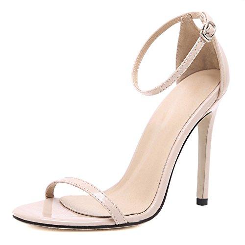 Strap High Heel (Eastlion Damen und Mädchen Sind Einfach Single Strap Style Stiletto High Heel Sandalen,Beige 36)