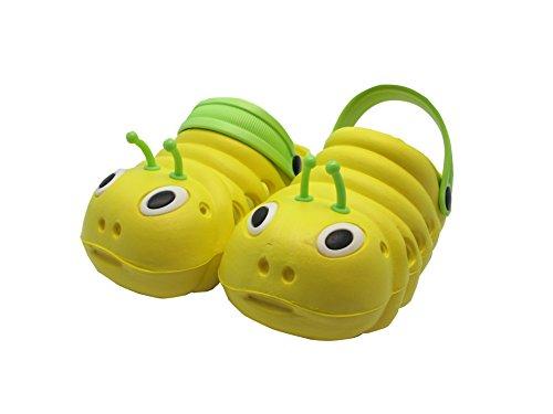 Kinder Clogs/Sandalen Glühwürmchen - Unisex - Gelb - Gr. 28