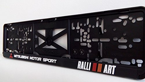 mitsubishi-motor-sport-effet-3d-licence-plaque-support