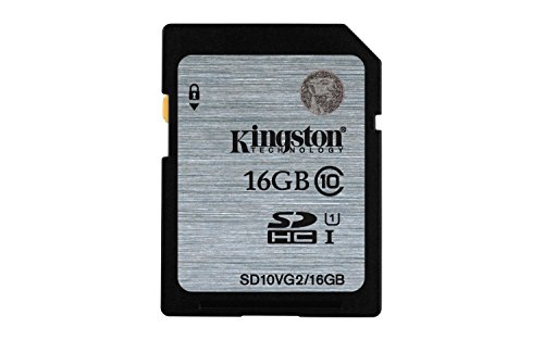 Kingston SD10VG2/16GB - Tarjeta SD UHS-I SDHC/SDXC (Clase 10 - 16GB)