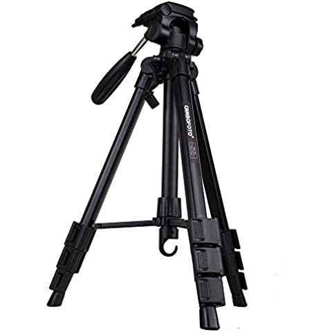 AFAITH Profesional de aluminio trípode de cámara para Canon Nikon Sony DSLR con la videocámara de cabeza de la bola SAB234