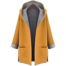 Mujer Capa Largo Cárdigan / Invierno Chaqueta / Sudaderas Mujer Talla Extra / Parka / Outwear / Tops Sobredimensionado Hooded Meedot