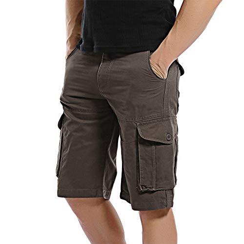AYG Cargo Shorts Herren Bermudas Shorts(coffee,38) (Teen Boy Shorts)