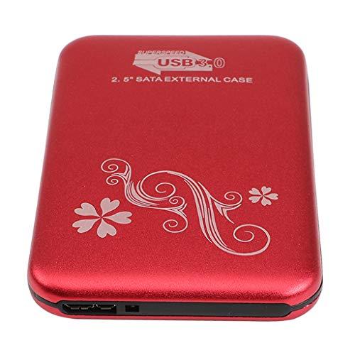 non-brand Baoblaze Externe Festplatte tragbare 2,5 Zoll SATA 3 / USB 3.0 Backups HDD Tragbar (160 120 80 gb) für PC, Laptop, Desktop, Rot - 80 GB -