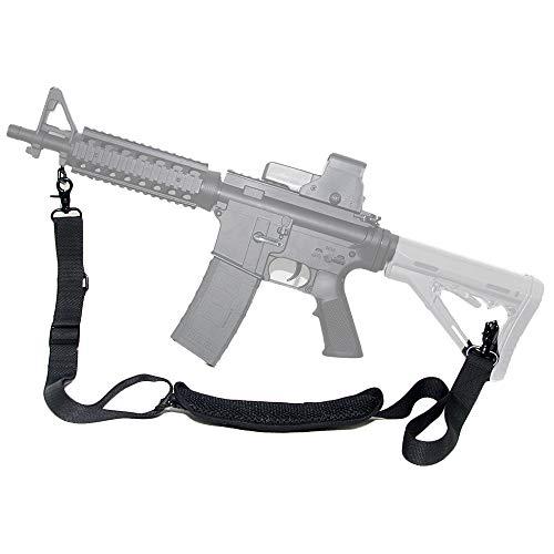 Tactical Single Element Fusil Sling Point 2 écharpe traditionnelle sangle 1,25 pouces Tube en nylon du canon tissé sangle (Fermoirs de déclenchement)