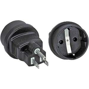 Netzadapter, USA Stecker auf Schutzkontakt Buchse (2 Stück)