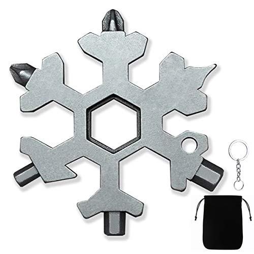 Schneeflocken Werkzeug, 18-In-1 Multifunktionswerkzeug Schneeflocke Edelstahl Multitool Werkzeug Tragbares f