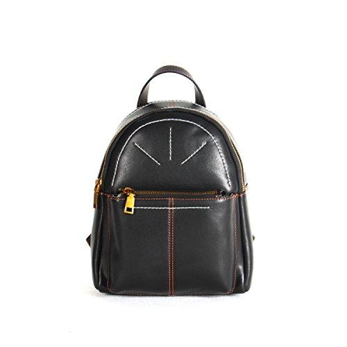 Sacchetti Di Spalla Delle Donne Caricamento Della Cuffia Della Pelle Bovina Medium Delle Signore Di Modo Campus Shopping Casual Bag Black