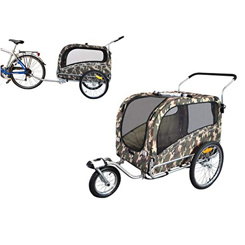 PAPILIOSHOP ARGO Remorque à vélo et poussette pour le transport de chien et animaux modèle course à pied jogging jogger buggy bicyclette bike chiens remorques vélos