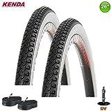 KENDA 2 x K-131 Fahrradreifen 26 x 1 3/8 x 1 1/2-37-584-2 x