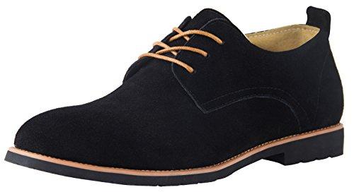 Derby Herren Schnürhalbschuhe Großformat Schwarz Schuhen Oxfords Business Schnürer Wandern US 14