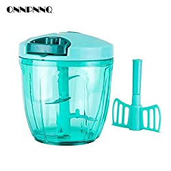 Pinkdose 5 Pieces: Onnpnnq Multifunctional Hand Food Processor Fruit Vegetable Meat Chopper Mincer Crusher Salad Tools Kitchen Food Chopper