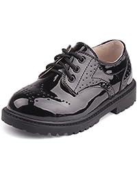 Juleya Niños Zapatos con cordones - Zapatos Oxford clásicos Zapatos de fiesta para bodas, actuaciones, canto, bautismo y otras ocasiones informales / formales