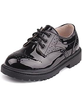 Juleya Niños Zapatos con cordones - Zapatos Oxford clásicos Zapatos de fiesta para bodas, actuaciones, canto,...