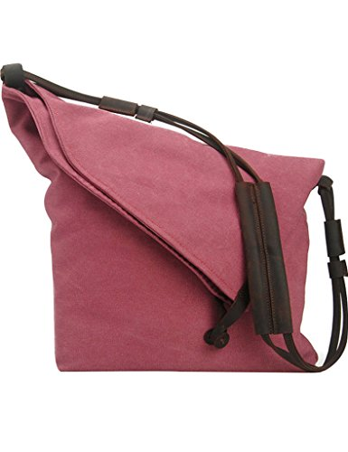 Youlee Segeltuch Schultertaschen Kuriertaschen Reisetaschen Einkaufstüten Blau Rose Red