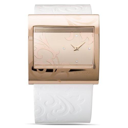 Brosway Collection SM03/ - Reloj de mujer de cuarzo, correa de piel color blanco