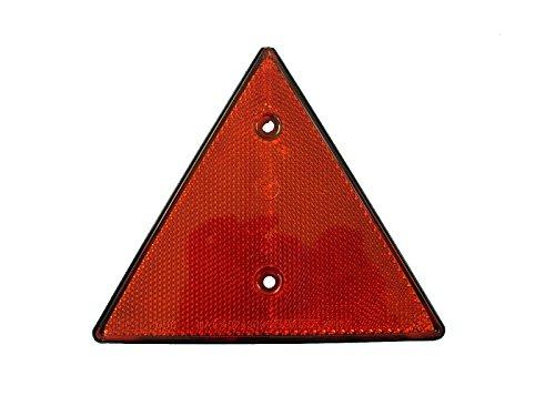 2 x Dreieck-Rückstrahler, rot, schraubbar