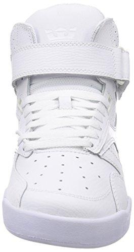 Supra Bleeker, Sneakers Hautes mixte adulte Blanc (White White)
