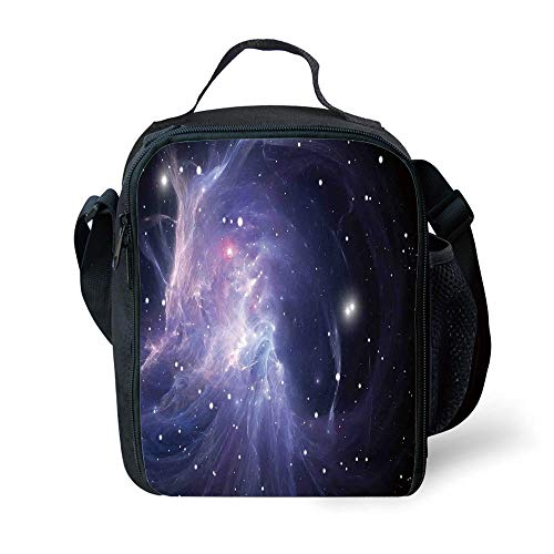 ZKHTO School Supplies Space Decorations,Space Nebula in The Galaxy Complex Energy Movements Cosmos Print,Navy Purple for Girls or Boys Washable