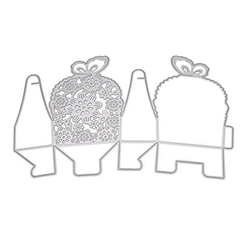 en Schmetterling aus Metall Geschenk-Box DIY Scrapbooking Karte Prägung ()