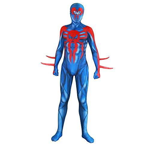 DFRTYE 3D Print Außergewöhnlicher Spiderman Erwachsene Kinder Halloween Kostüm Overall 3D Print Lycra Spiderman Cosplay Body,Adult-L