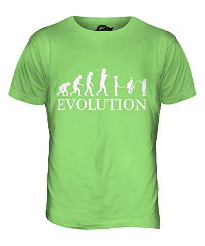 CandyMix Kinder Überspringen Evolution Des Menschen Herren T Shirt Limettengrün