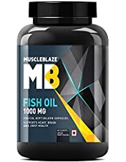 MuscleBlaze Fish Oil (1000 mg) 180 capsules