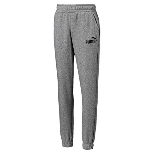 PUMA Jungen ESS Logo Sweat Pants TR cl B Hose, Medium Gray Heather, 128