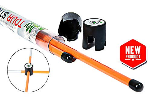 Golf Set de 2 Sticks d'Alignement Orange | Outil d'Aide au...