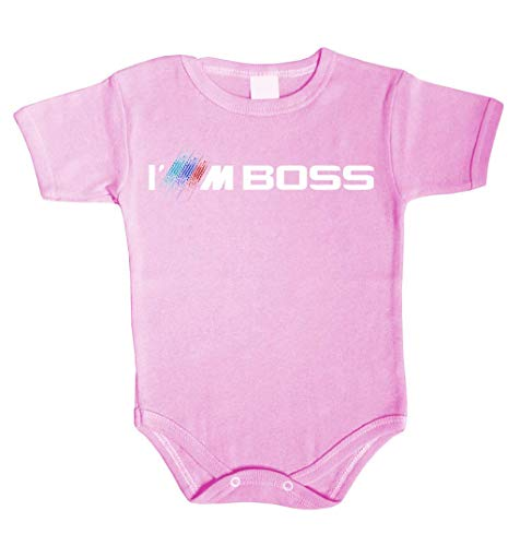 Tradebox Baby Body I'm BOSS inspiriert von M3 M5 M6 X6 X5 M E30 E46 F10 Driver Babykleidung Strampler Unterwäsche Xmas Gift (62 (0-3m), Rosa) -