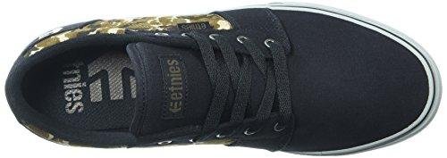 Etnies Barge LS, Chaussures de Skateboard Homme Black/camo/olive