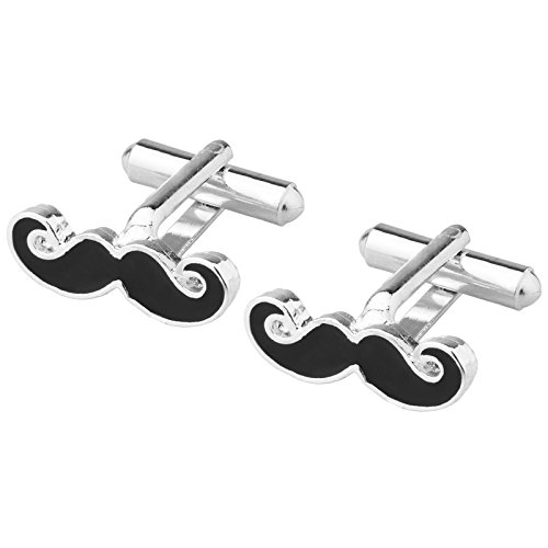 Shining Jewel Funky & Stylish Cufflinks for Men - Moustache Design (SJ_7053)