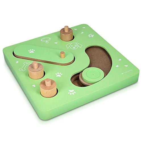 Navaris IQ Hunde Spielzeug Strategiespiel - versch. Schwierigkeiten - Intelligenzspielzeug interaktiv - Intelligenz Hundespielzeug - auch für Welpen
