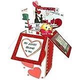 Handmade 3D Love Pop up Card / Valentine Exploding Greeting