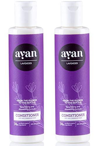 Naturkosmetik Conditioner für Sehr Trockenes und Beschädigtes Haar ✔ Mit BIO Sheabutter, Kokosöl und Arganöl ✔ Ohne Silikone, Parabene, Sulfate und Co ✔ AYAN 2er Set Vorteilspreis