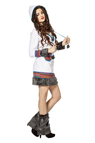 Damen Kostüm Eskimo Inuit Eskimokostüm Karneval Fasching -